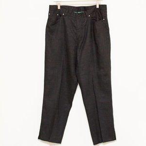 Lauren Jeans Co Black Lightweight Linen Jeans 14